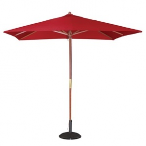 Bolero Square Parasol 2.5m Wide Red