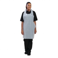 Disposable Polythene Aprons White (100pp)