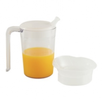Clear Mug with Handle & 2 lids