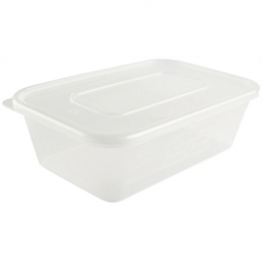 Plastic Microwave Container (Box 250) Medium 650ml