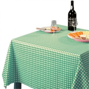 Tablecloth Green Check - 1370x2280mm 54x90