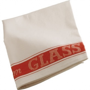 Glass Cloth Linen Union Red Border - 76x51cm