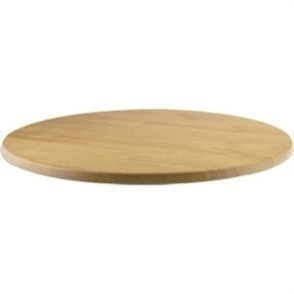 Werzalit Round Table Top Oak 800mm