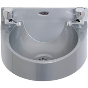 Basix Polycarbonate Wash hand Basin (Grey) c/w Dome head Taps
