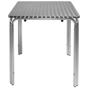 Bolero Square Leg Table St/St - 60cm