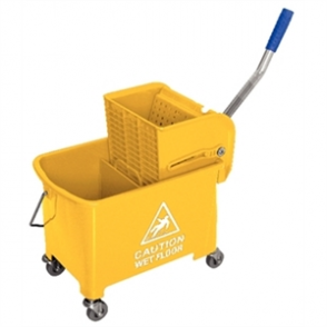 Yellow Mop Wringer & Bucket 20Ltr