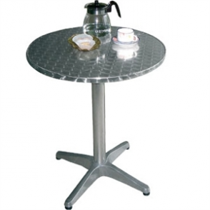 Bolero Round Table with Curved Edge Heavy Duty Base Dia 60x72cm