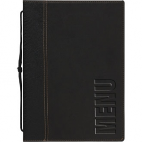 Contemporary Menu Holder A5- Black. Insert (4 pages)