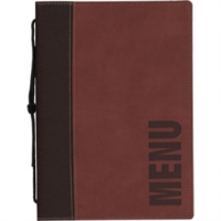 Contemporary Menu Holder - A5 Wine Red. 1 Insert (4 pages)
