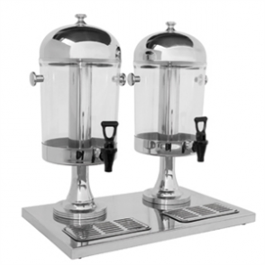 Olympia Double Juice Dispenser with Drip Tray