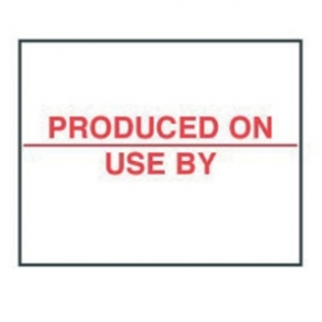 Produced On/Use by Labels - 20x16mm (Pack 14000)