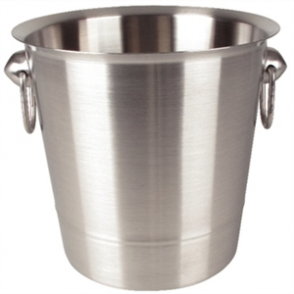 Wine Bucket - Brushed Stainless Steel