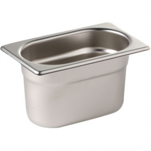 Stainless Steel Gastronorm Pan - 1/9 Size 100mm deep