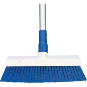 SYR Hygiene Broom Head Stiff Bristle Blue