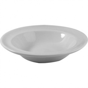 White Rimmed Fruit Bowl 6.7oz (Box 24)