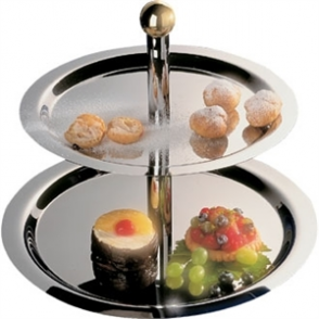 2 Tier Stainless Steel Service Display Tray