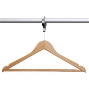 Bolero Wooden Hanger with Security Collar Natural (Pack 10)