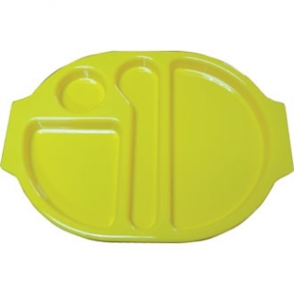 Food Compartment Trays Standard. Pack quantity: 10. Yellow
