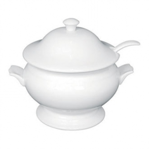 "Olympia Whiteware Soup Tureen&Ladle White 2.5Ltr 88oz 227x250mm 9x9 3/4""(Single)"