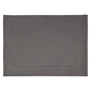 APS PVC Placemat Fine Band Frame Grey 6pp