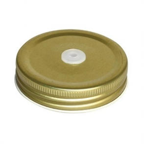 Olympia Jam Jar Lid with Straw Hole (12PP)