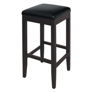Bolero Faux Leather High Bar Stools Black (Pack of 2)