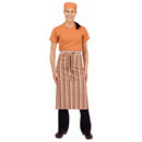 Chef Works Bistro Apron - Orange/White/Brown