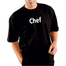 Kitchen Team 'Chef T-Shirt Black - Size S-XL
