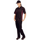 Colour by Chef Works Contrast Shirt - Black & Merlot