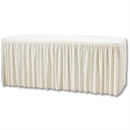 Cream Plisse Table Combi Skirting - 1820x750x730mm