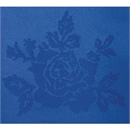 Roslin Polyester Woven Rose Royal Blue Tablecloth