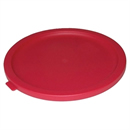 Round Lid For 2 to 4Ltr Containers Red