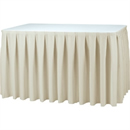 Cream Table Skirting - Boxpleat Style 730(h) x 4100(l)mm