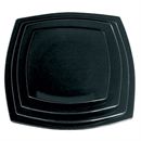 Olympia Round Square Plate Black 185mm 7 1/2 (Box 12)