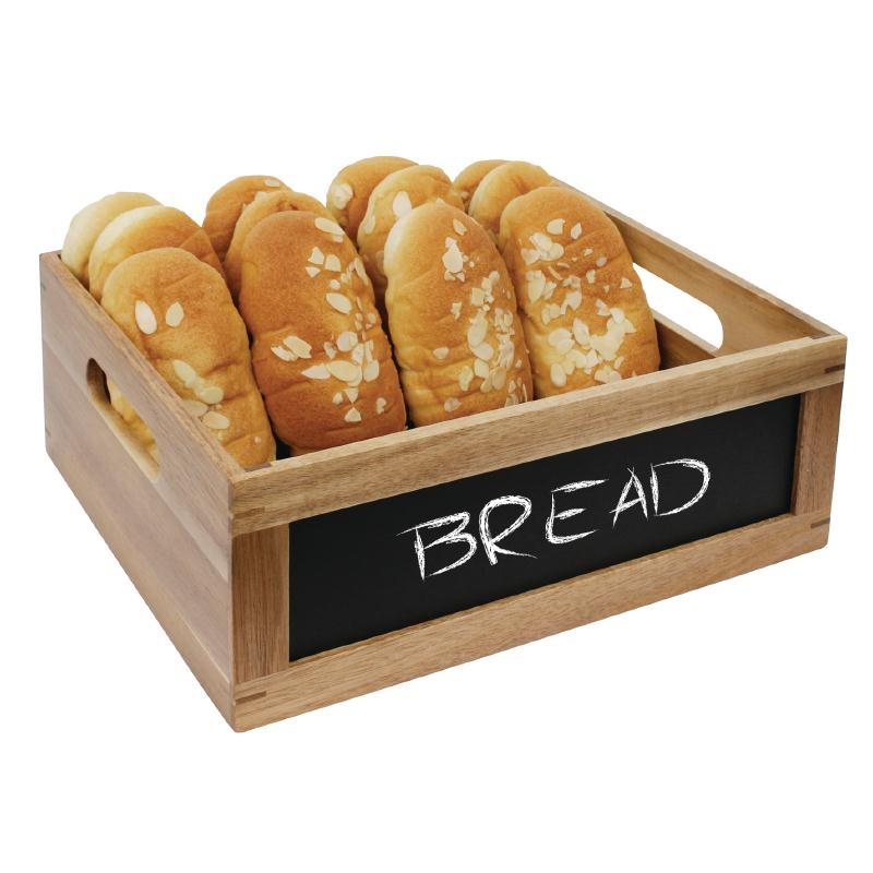 Olympia Bread Crate with Chalkboard 1/2 GN 325x265x120mm