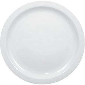 Olympia Whiteware Narrow Rimmed Plate - 25cm 10 (Box 12)
