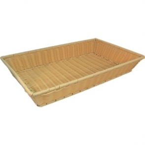 Polypropylene Rattan Basket GN 1/1 - 530x325x80mm (Basket Only)