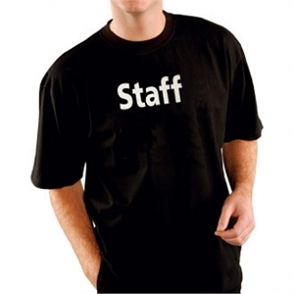 Kitchen Team Staff T Shirt Black