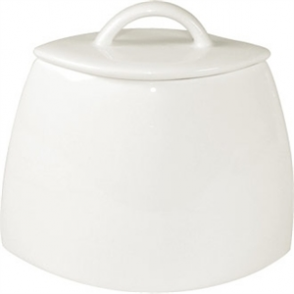 Lumina Fine China Oval Sugar Bowl with lid - 200ml 7oz (Box 6)