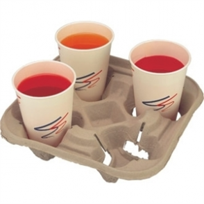 4 Cup Carry Trays (Box 160 pc)