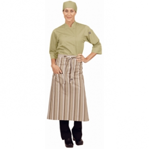 Chef Works Bistro Apron - Lime/White/Brown