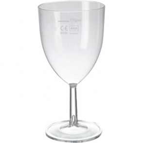 Polystyrene Wine Glasses 200ml CE Marked at 175ml (48pc)