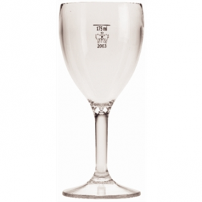 Polycarbonate Wine Glasses 255ml CE Marked at 175ml (12pc)