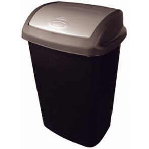 Black Swing Top Bin Curver 25 Litre