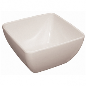 Curved White Melamine Bowl 11in (Sold Single)