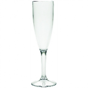 Polycarbonate Champagne Flutes 200ml CE Marked at 175ml (12pc)
