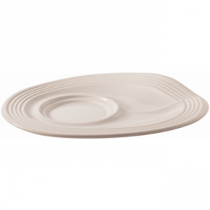Revol Froisses White Cappuccino Saucers 175mm (Box 6)