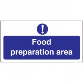 Food Preparation Area Sign