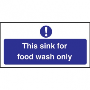 Food Wash Only Sign
