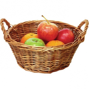 Olympia Willow Small Round Table Basket 240mm